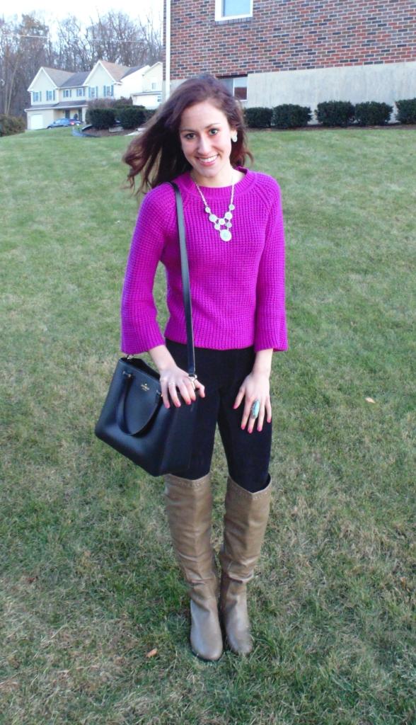 philadelphia fashion blogger fuschia mint julep boutique accessorizing kate spade statement