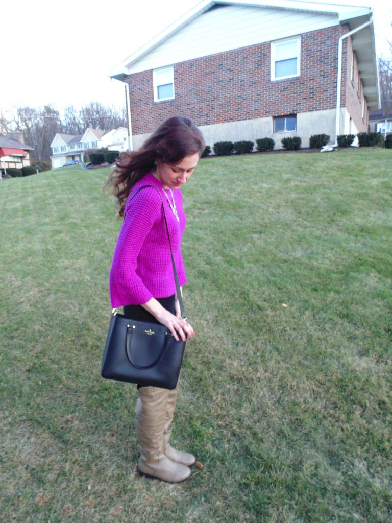 philadelphia fashion blogger ootd sweater kate spade
