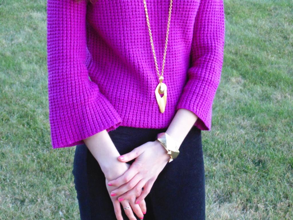 purple sweater fashion blogger ootd philadelphia