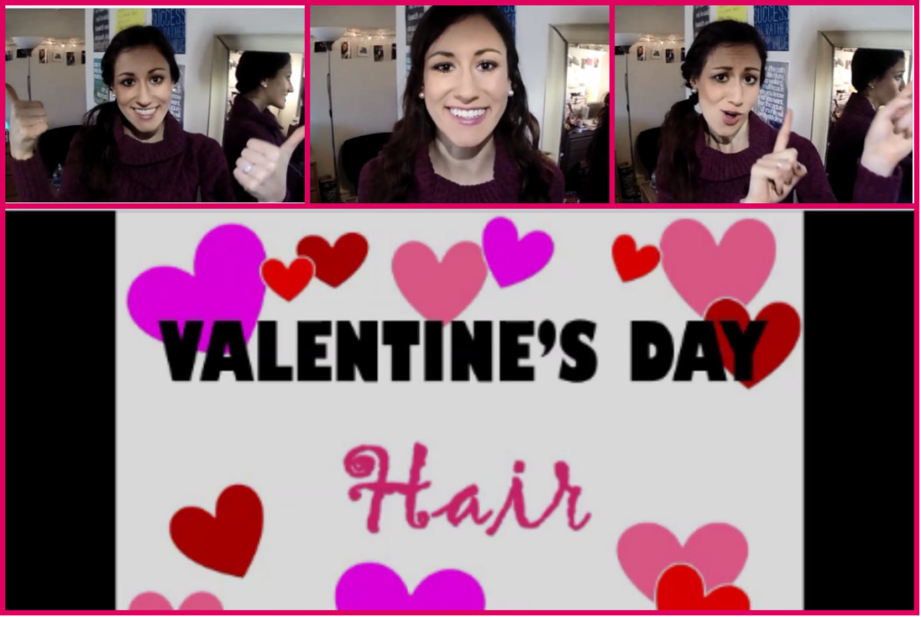 Valentine's Day Hair Two Ways