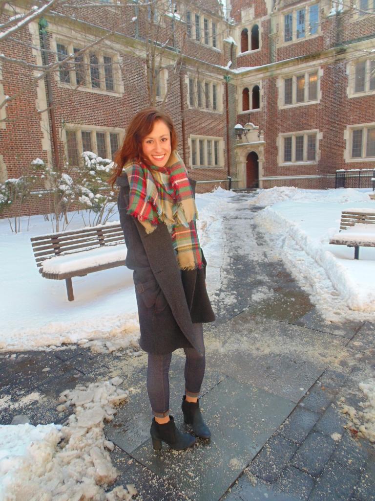blanket scarf ootd fashion blogger philadelphia