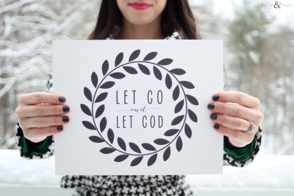bible verses on anxiety let go and let God