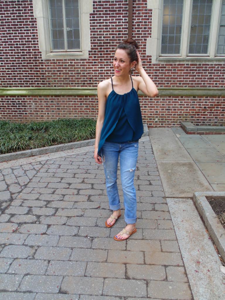 navy chiffon dress fashion blogger philadelphia