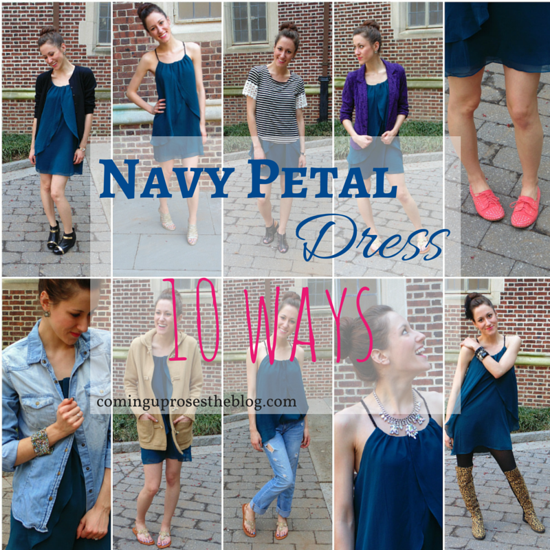 Navy Petal Dress, Ten Ways