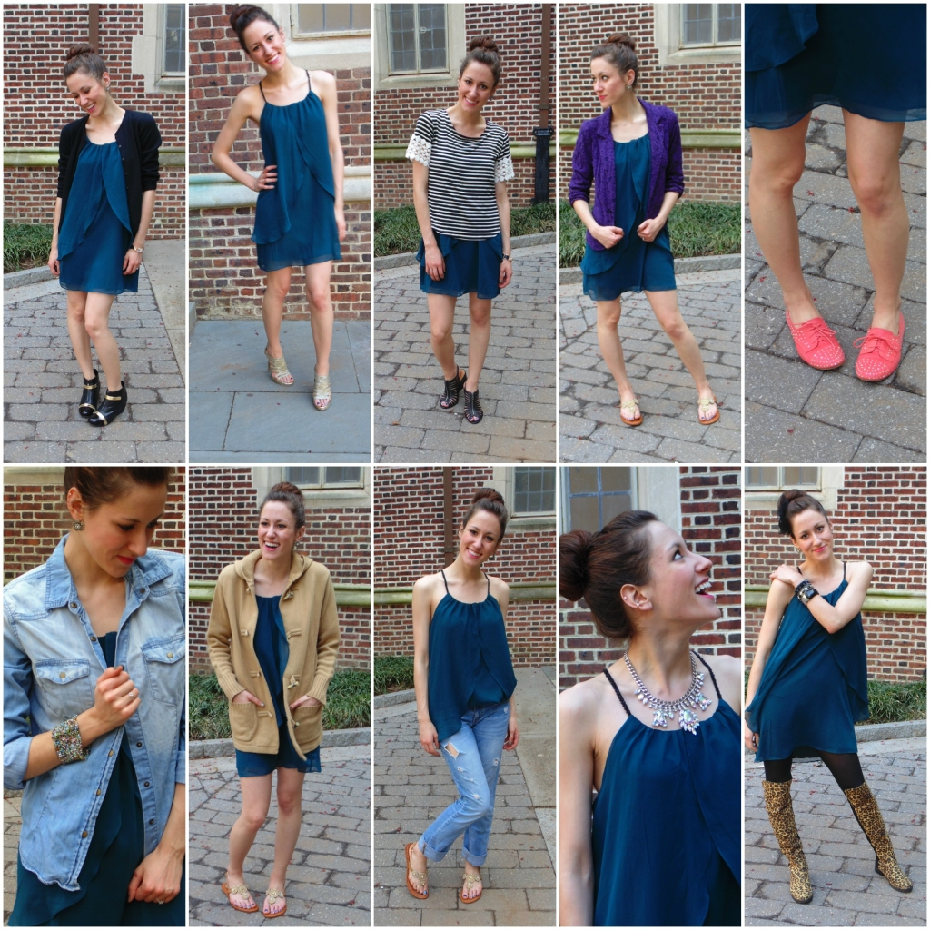 how to wear a dress ten ways