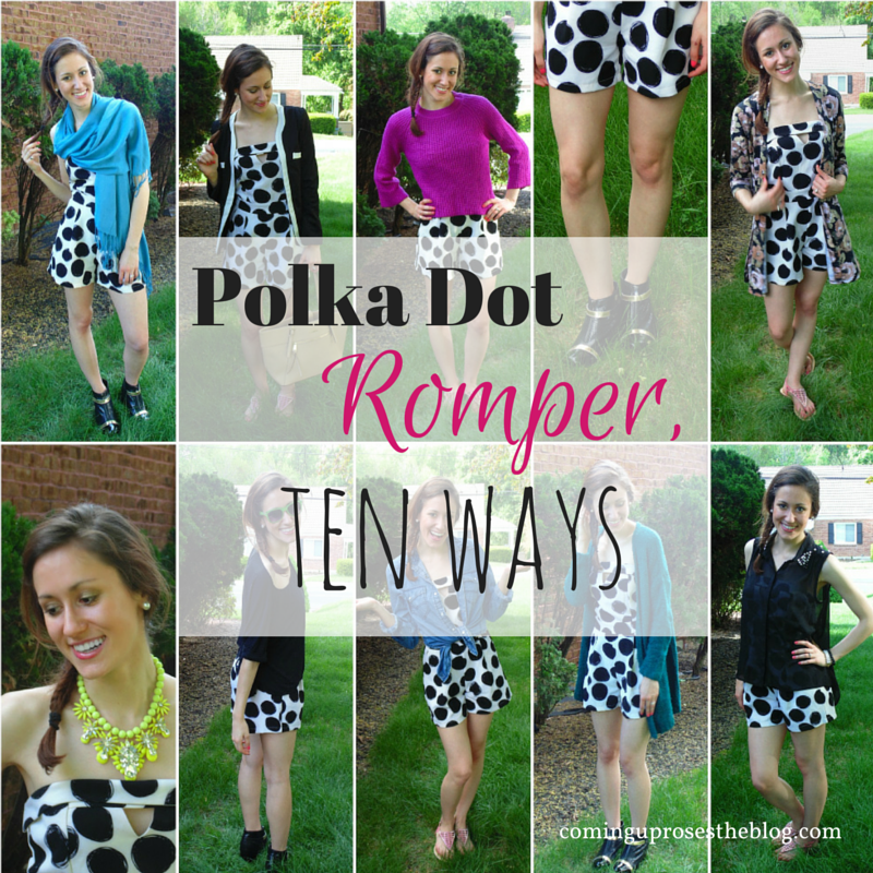 Polka dot Romper, Ten Ways (+ $50 Giveaway!)