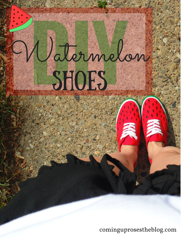 How to make DIY Watermelon Shoes for spring!