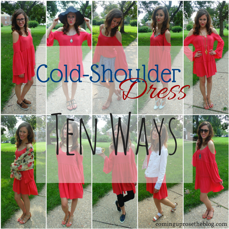 How to style a cold-shoulder dress ten different ways!