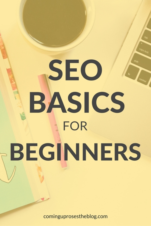 SEO basics for beginners - a tool for bloggers on Coming Up Roses