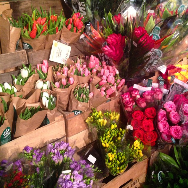 fresh flowers at whole foods