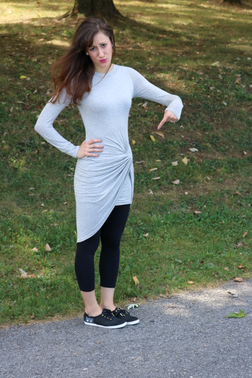 Ten ways to style a Grey Draped Dress - code: cominguproses for 15% off!