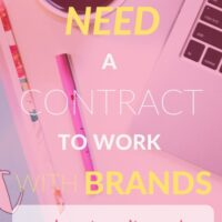 Why you need a contract to work with brands (+ how to write one!).