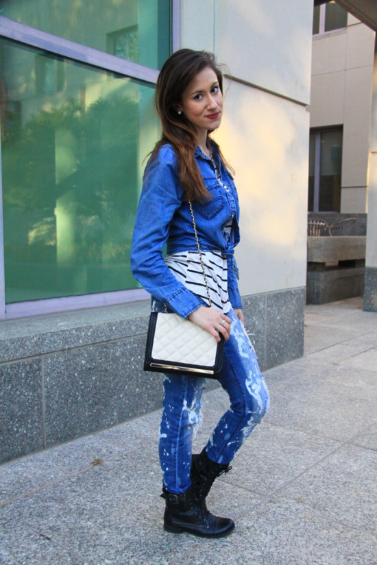 How to Accessorize Chambray on Denim
