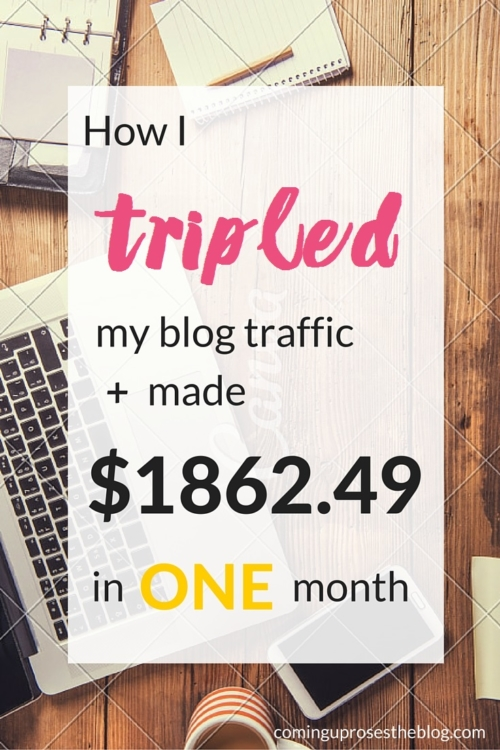 Income Report + Traffic Report on Coming Up Roses