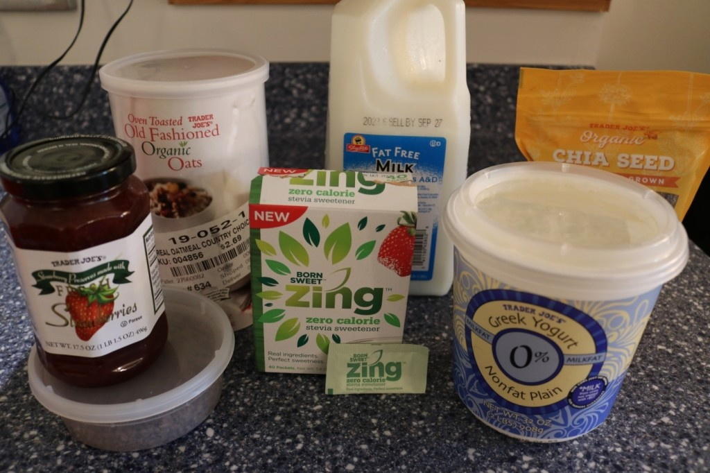Overnight oatmeal pudding with Zing Zero Calorie Sweetener