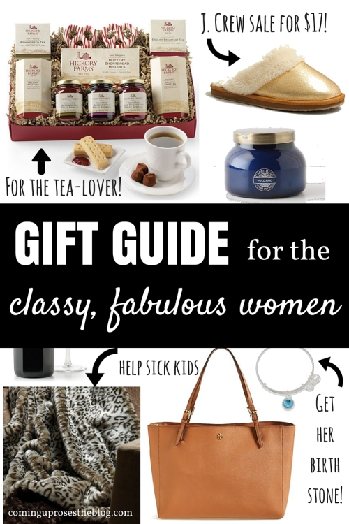 Gift Guide for the Classy, Fabulous Woman