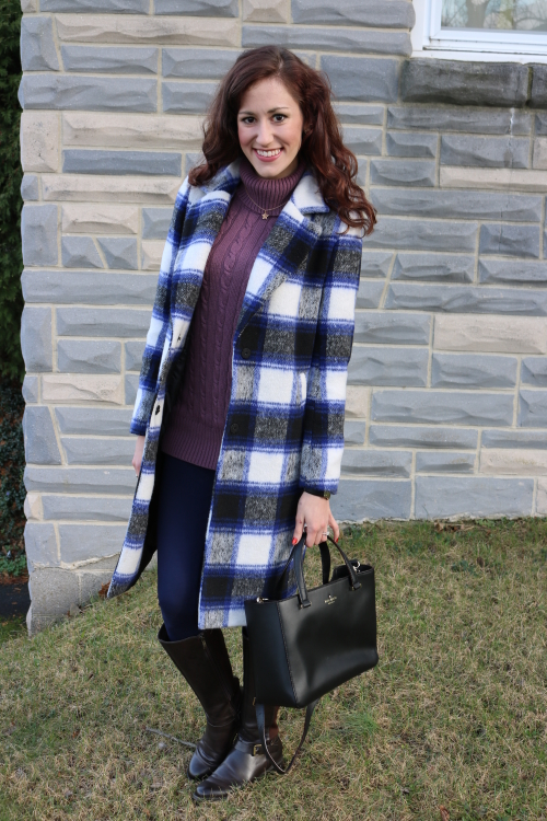 Winter OOTD, Plaid Coat, Forever 21 sale