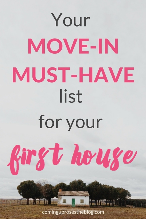 Your Move-in Must-Have List for your first house