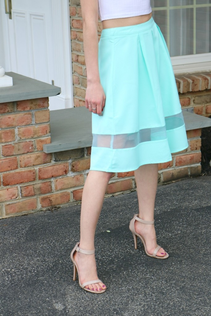 How to Spring clean your life - Mint Cut Out Skirt on Coming Up Roses