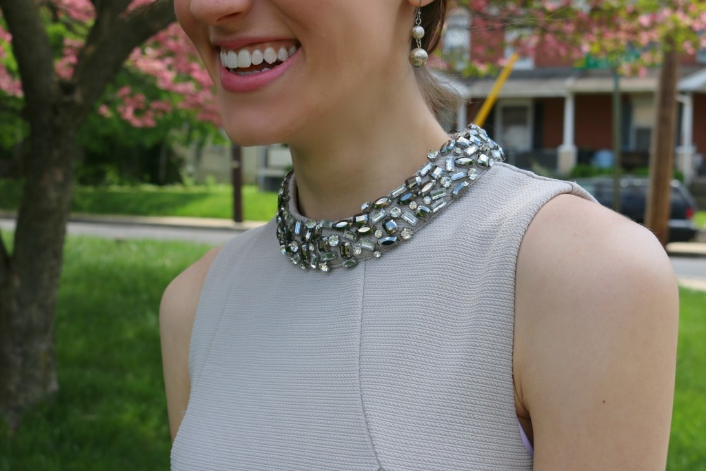 24 things every college grad needs to Succeed in Life - Grey Metallic Dress for 10% off on Coming up Roses!