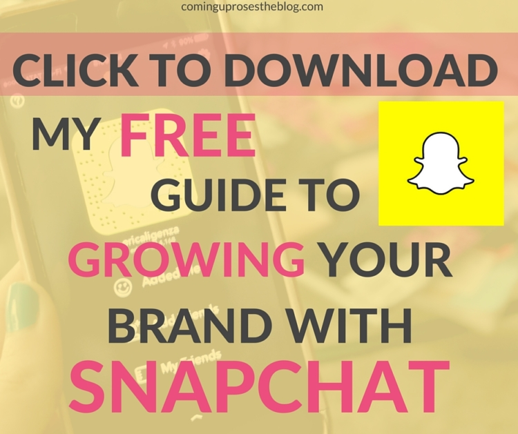 Free guide to growing your brand with Snapchat