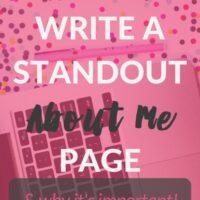 "How to Write a Standout ""About Me"" Page (& why it's important)"