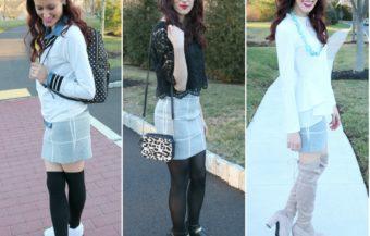 1 Thing, 3 Ways: Grid Skirt