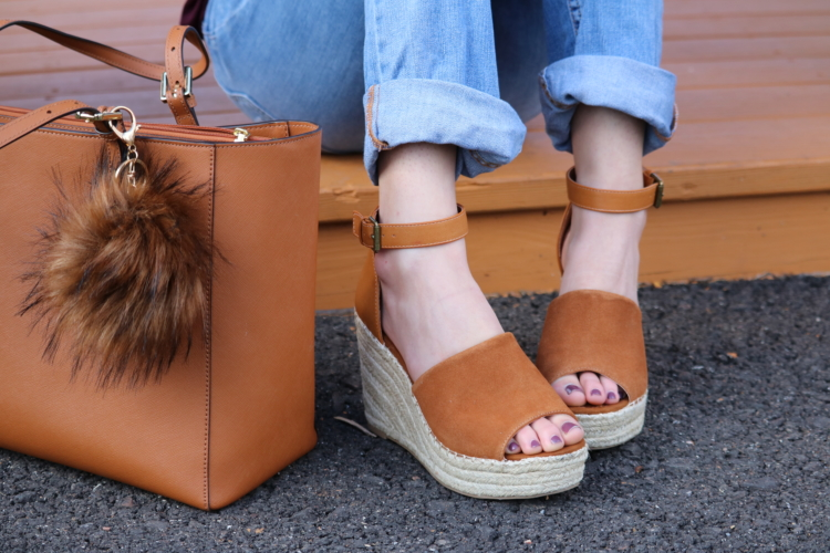 Marc Fisher espadrille wedge and Chloe espadrille wedge Designer Dupes on Coming Up Roses