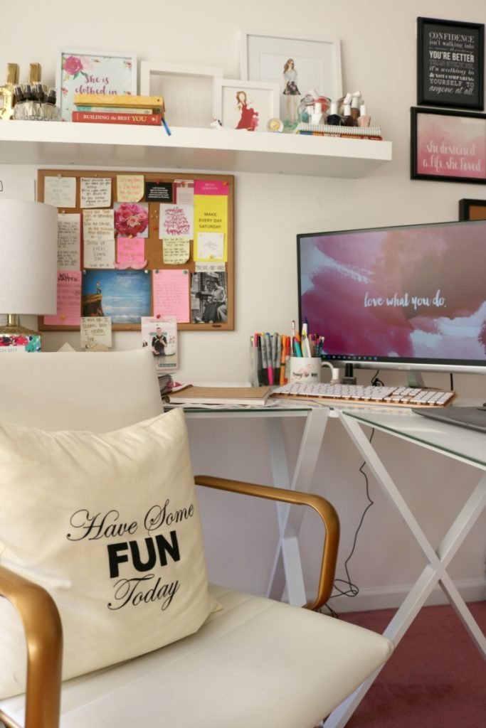 HOME TOUR: My Home Office - Come inside my home office + get inspired by my home office decor, on Coming Up Roses