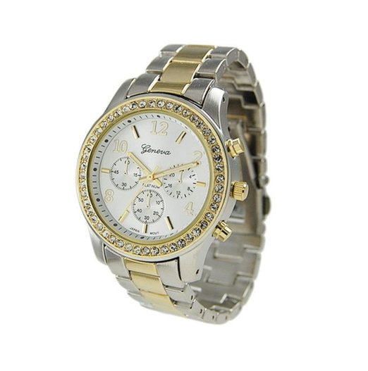 Geneva's take on a two-tone boyfriend watch. I'm in love. Click the affiliate link above to get yours!