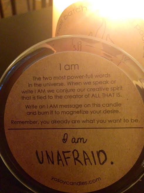 "Starting a movement of ""I am…"" {& Yo Soy Candle Giveaway!}"