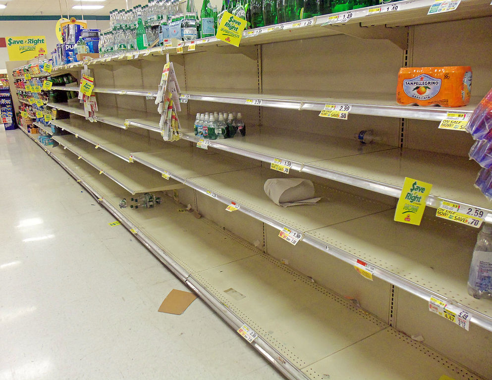 empty storm supermarket