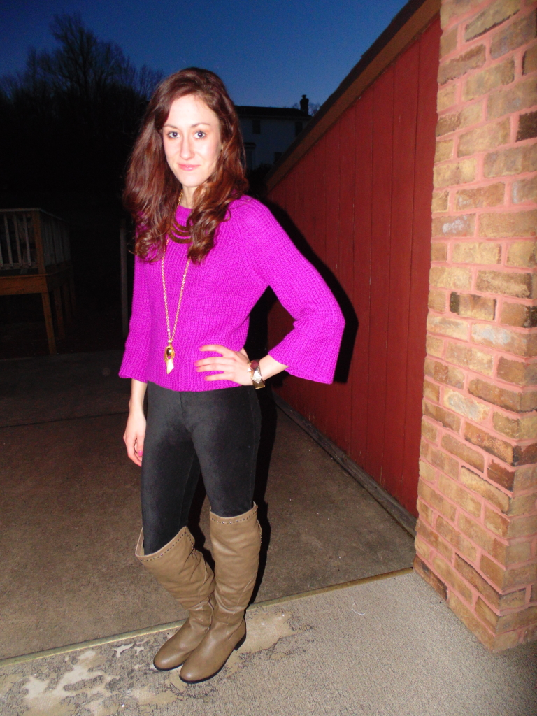 fuschia ootd fashion blogger philadelphia