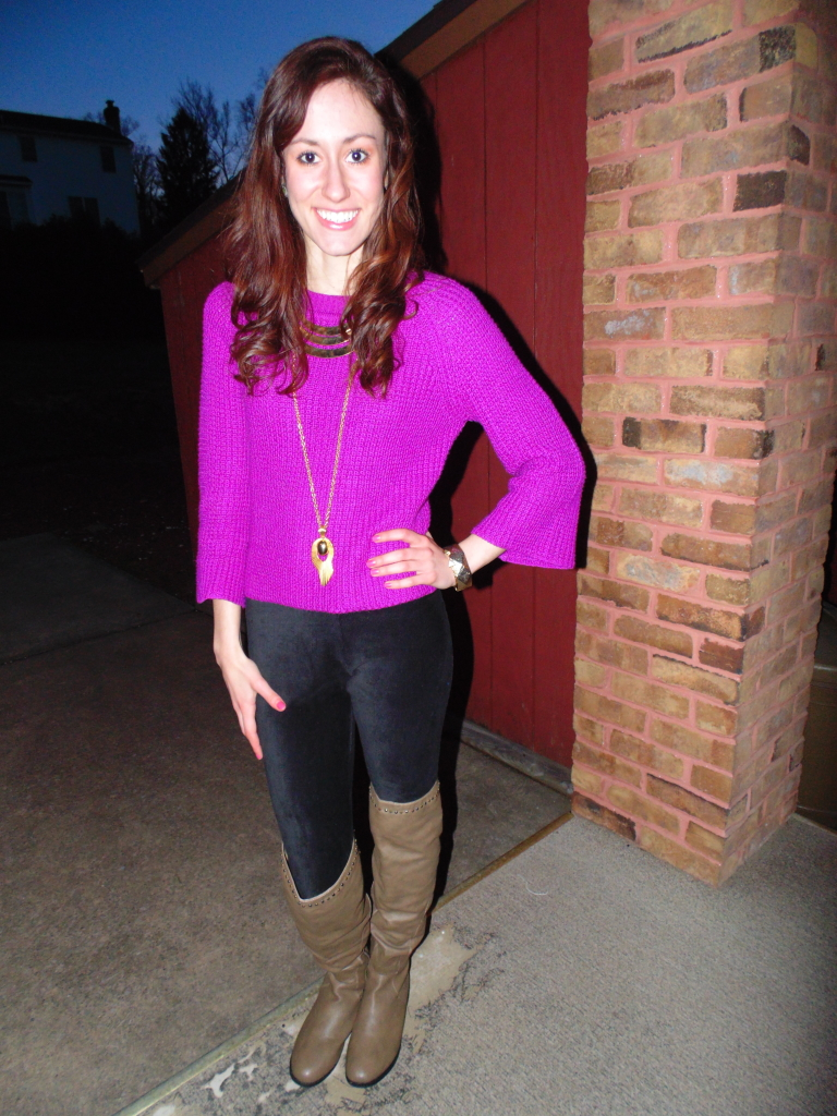 fuschia sweater mint julep boutique fashion blogger philadelphia ootd