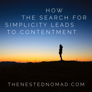 how the search for simplicity leads to contentment
