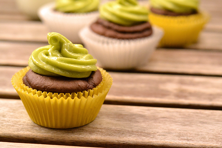 skinny chocolate cupcakes with avocado