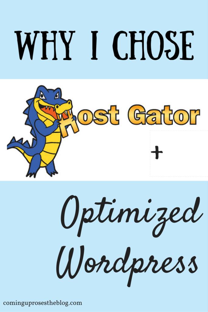 Why I chose HostGator and Optimized Wordpress