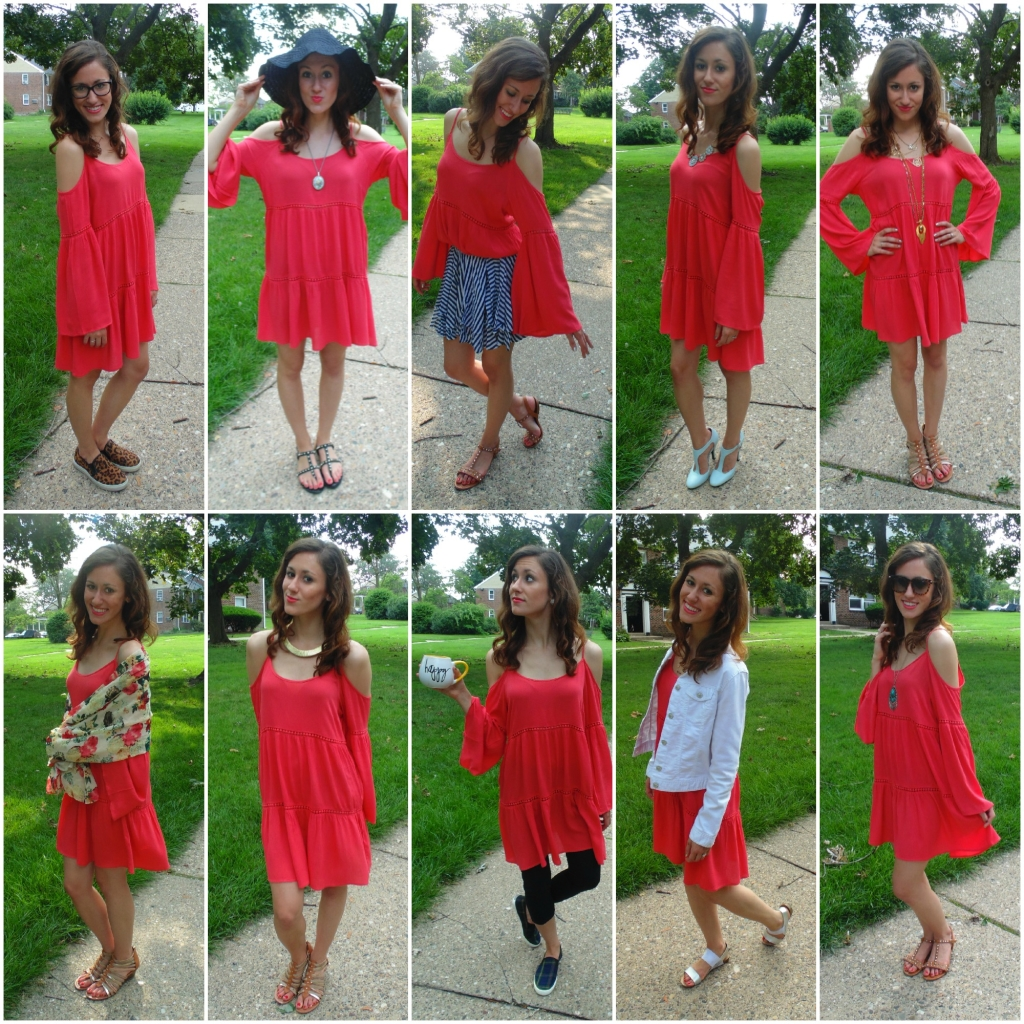 How to wear a cold-shoulder dress ten different ways!