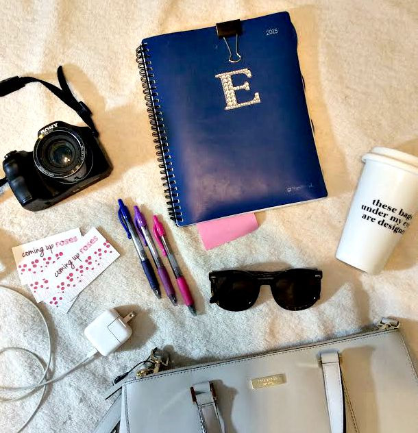 desk supplies from where I stand, what to pack for a blog conference