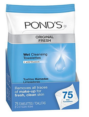 Ponds wet cleansing towelettes makeup removing wipes