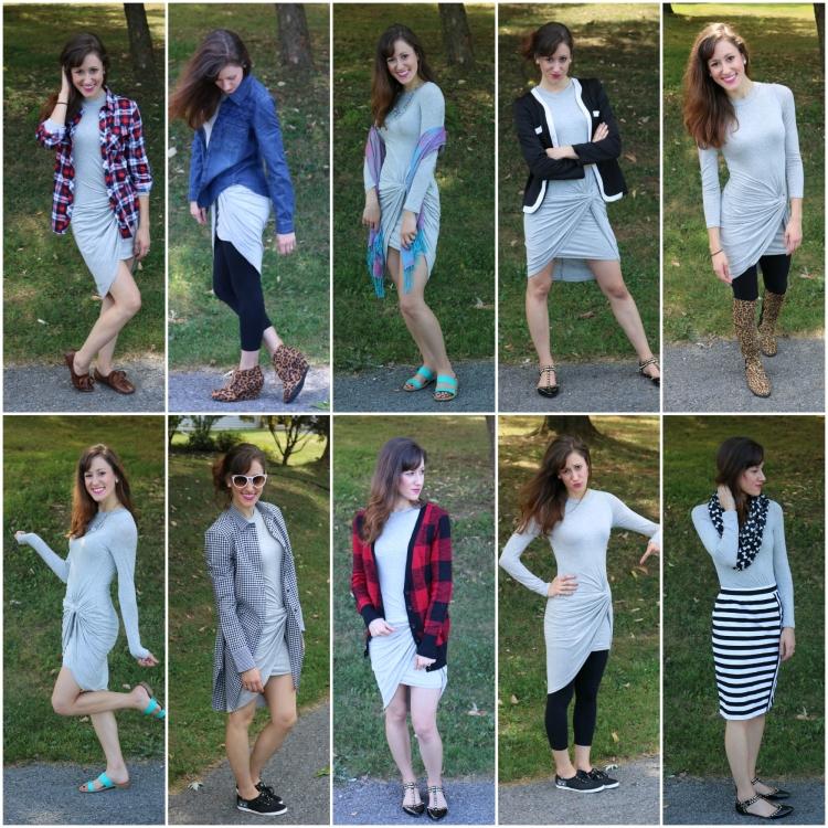 Grey dress Ten ways
