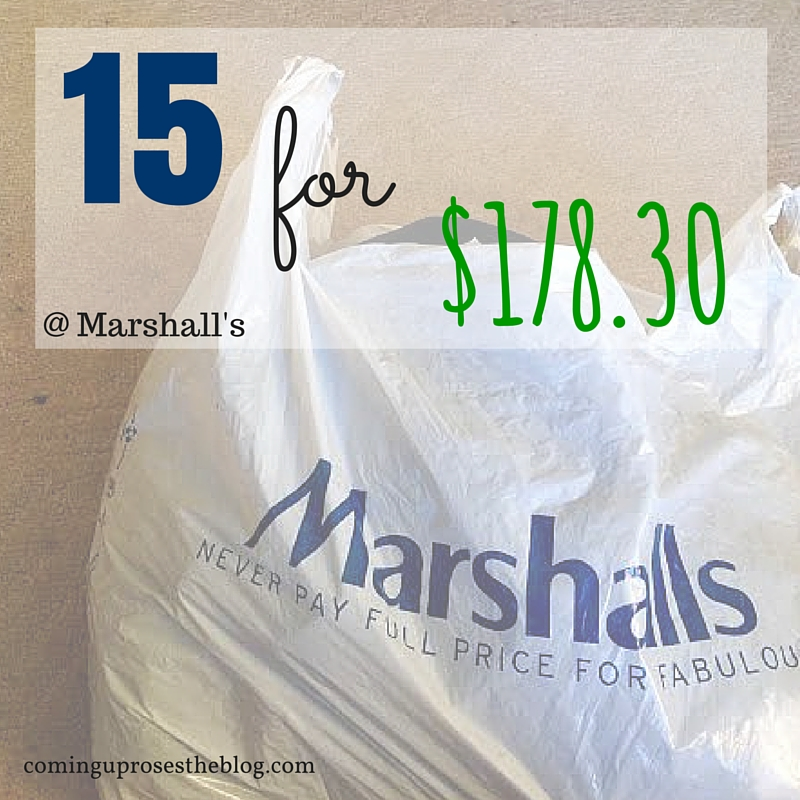 15 for $178.30 fall fashion haul at Marshall's