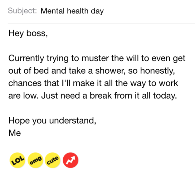 "Buzzfeed ""Hey work, can you not?"""