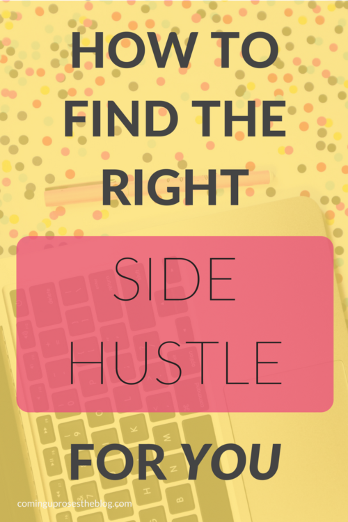 How to find the right side hustle for YOU. - on Coming Up Roses