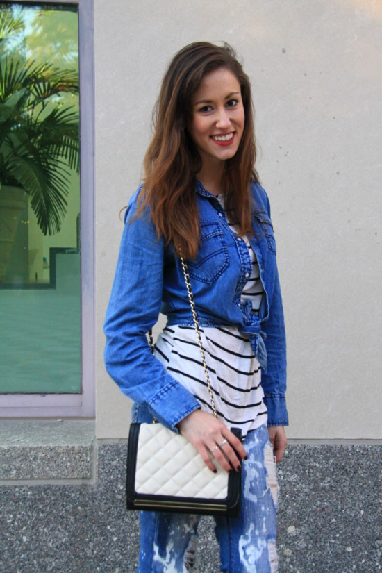 4 ways to accessorize chambray on denim
