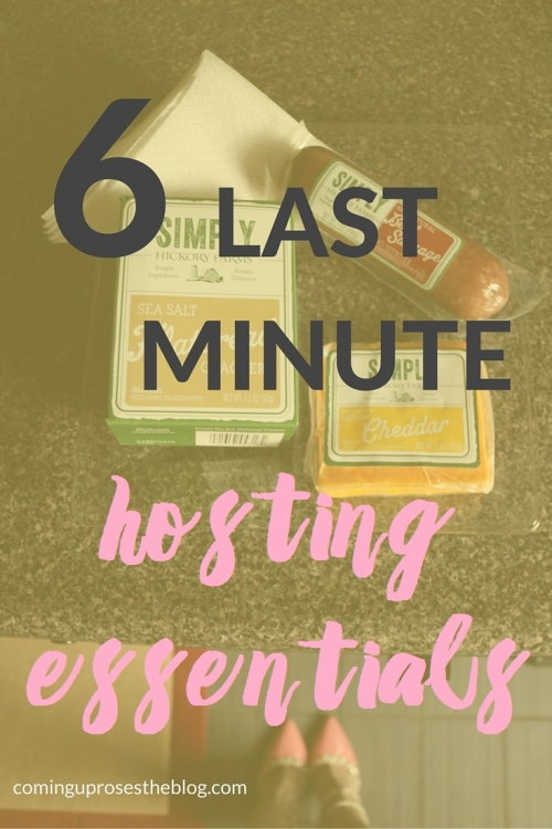 6 last-minute hosting essentials | Tips for what to keep on hand always for unexpected guests and spontaneous party hosting!