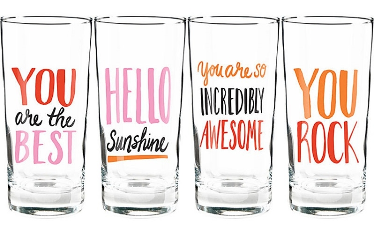 The most uplifting glasses make for the best Valentines Day Gift Idea! See the rest on Coming Up Roses.