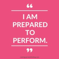"""I am prepared to perform."""