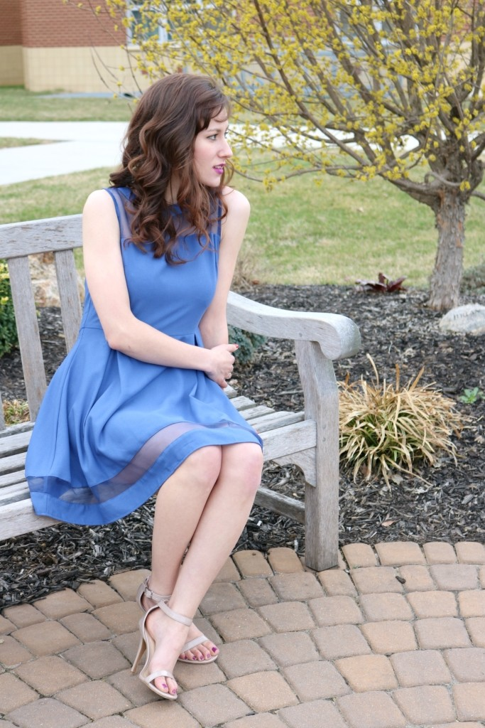 What I learned at UPenn: I would tell my freshman year self... - Featuring blue spring dress from Adorn Apparel