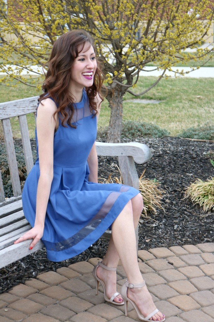 What I learned at UPenn - Featuring blue spring dress from Adorn Apparel